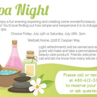 1000 Remedies spa night